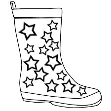 boot kidz outline wellington boot stencil colouring