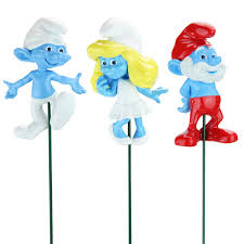 smurf plant stakes set of 3 only 17 99 at garden