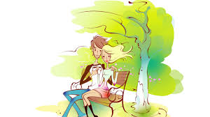 drawn wallpaper couple pencil and in color drawn wallpaper couple