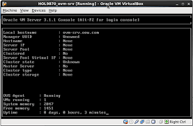 ovm console hol deploying a cloud infrastructure with oracle vm 3 x and sun