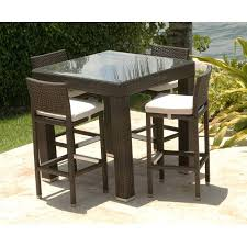 High Bistro Table Set Outdoor Patio Furniture High Top Table And Chairs 4wfilm Org