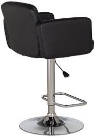 Bar Stool With Arms And Back Amazon Com Trek Large Adjustable Height Black Bar Stool Kitchen