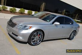 lexus chrome ls savini wheels
