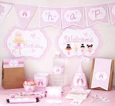 printable birthday decorations free ballerina birthday party decorations printable party instant