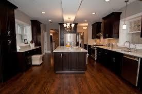 Kitchen Cabinets Espresso Espresso Cabinets With A Fun Subway Tile Backsplash Kitchen