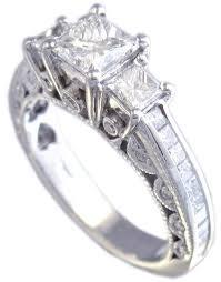 engagement rings princess cut white gold mesmerizing cubic zirconia princess cut engagement rings white