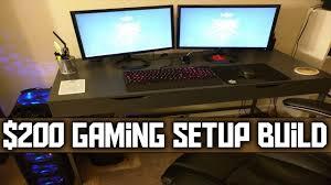 gaming setup desk best gaming setup for 200 youtube