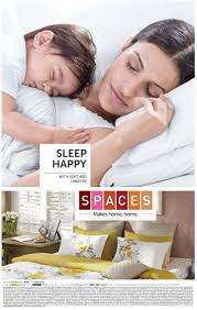 sleep happy with soft bed linen by spaces advertisemant