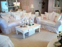 soft pink and white shabby chic home decoration with white cozy