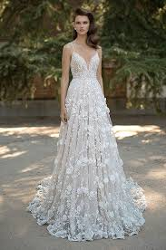 wedding dress collections berta embroidered a line wedding dress with 3d florals berta