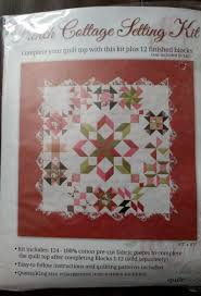 Cottage Quilts And Fabrics by Jo Ann Fabric Quilt Block French Cottage Setting Kit Ebay
