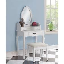 Wood Vanity Table Cool Ribbon Wood White Makeup Vanity Table And Stool Set Home
