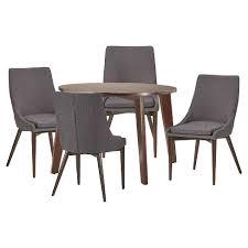 sullivan round dining table sullivan espresso mid century 5 piece round dining set inspire q