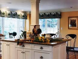tag for french country kitchen curtain ideas rustic red kitchens