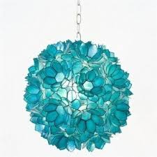 Turquoise Glass Pendant Light Stained Glass Hanging Pendant Lamp Foter