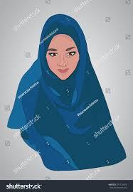 muslim woman wearing hijab islamic traditional stock vector