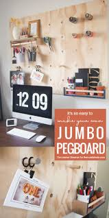 best images about cleaning and organizing pinterest diy oversized jumbo pegboard from plywood remodelaholic