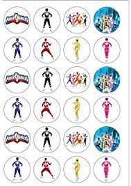 power rangers cake toppers power rangers personalised premium rice paper cake topper 7 5