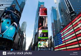 New York Flag American Flag Times Square Midtown Manhattan New York New