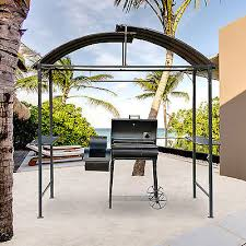 metal gazebo marquee bbq tent garden patio smoking grill canopy