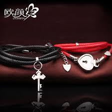 bracelet sets ouyan couples bracelets lock and key wrap bracelets set black
