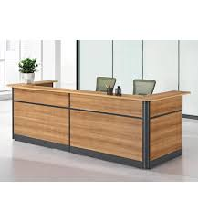 Wood Reception Desk High Quality Simple Wooden Reception Counter With 3 Drawer Cabinet