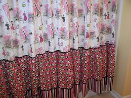 Pink And Yellow Shower Curtain by Shabby Chic Shower Curtains