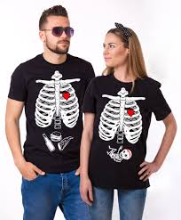maternity couple shirts halloween skeleton shirts baby