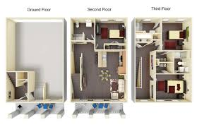 Floor Plans For Apartments 3 Bedroom by Ole Miss Off Campus Housing For Rent Oxford Ms 3 4 Bedroom