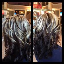 brunette hairstyle with lots of hilights for over 50 50 best streaks of white images on pinterest gorgeous hair hair