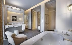 luxury master bathroom suites white bath sink big wall mirror luxury modern bathroom black round toilet bathtub