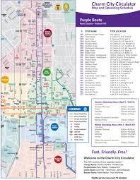 baltimore light rail map charm city circulator maplets