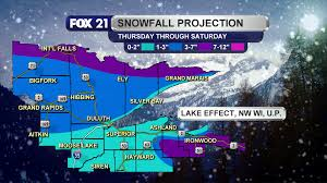 Snowfall Totals Map Seasons First Accumulating Snowfall Shortly Underway Fox21online