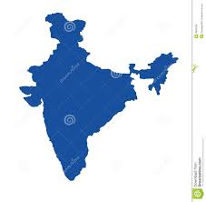 Outline Map Of India by Blue Map Of India Royalty Free Stock Images Image 4853439