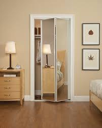 Mirrored Folding Closet Doors Bi Fold Sliding Closet Doors Closet Doors