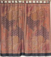 Patterned Window Curtains Woven Curtain Panels Jamawar Paisley Floral Patterned Window
