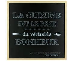 panneau cuisine le cadre a suspendre panneau lumineux citation la cuisine est la