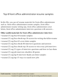 Resume Examples For Office Jobs by Top 8 Front Office Administrator Resume Samples 1 638 Jpg Cb U003d1431467726