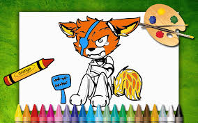 painting fnaf foxy coloring fnaf paint 1 2 free