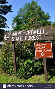 shawme crowell state forest sign in cape cod massachusetts usa