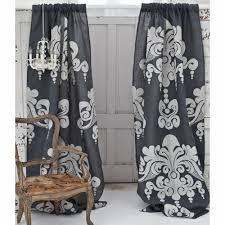 Slate Grey Curtains Couture Dreams Enchantique Slate Grey Jute Window Curtain Window