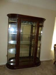curio display cabinet plans curio display cabinet large oak curved etched beveled leaded glass