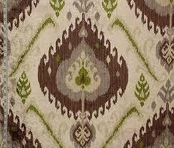 Velvet Chenille Upholstery Fabric Green Brown Ikat Fabric Chenille Velvet Upholstery From Brick