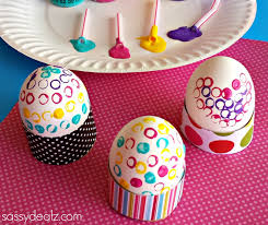 easter eggs decoration decorate easter eggs with straws and paint carefridge