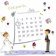 calendrier mariage mariage dessin