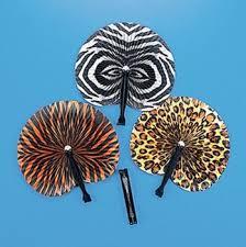 hand held folding fans buy 100pcs safari animal print folding fans party favor paper hand