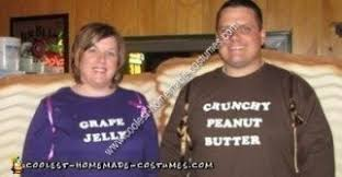 Peanut Butter And Jelly Costume Coolest Homemade Peanut Butter And Jelly Sandwich Couple Costume