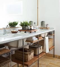 Open Bathroom Shelves Open Shelf Bathroom Vanity Visionexchange Co