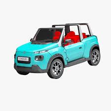 citroen mehari electric 3d e mehari electric car turbosquid 1183630