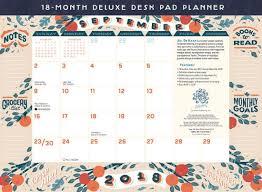 desk pad calendar 2018 18 month desk calendar 2018 18 month deluxe desk pad planner jill de